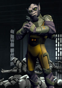 Zeb with Troopers
